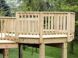 outdoor u0026 garden perfect wooden raised deck design with pergola