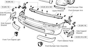 1999 toyota camry front bumper how do all of the bumper parts for a 1999 toyota tacoma go together