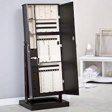 Wall Mirror Jewelry Storage Jewelry Organizer Mirror Modern Bedroom Furniture Accessory White