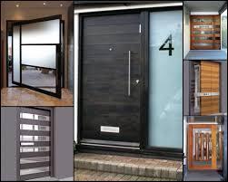 hardwood doors iron entry modern exterior front external house