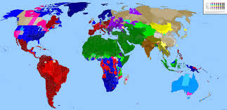 World Map Scotland by World Religion Map By National Subdivision
