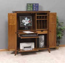 All Wood Computer Desk Furniture Solid Wood Computer Armoire With Legs And Carpet