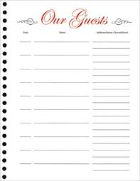 guest sign in book for funeral guest book refill sheets pkg of 25