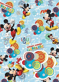 mickey mouse christmas wrapping paper official gift wrap paper 2 sheets 2 tags wrapping inc disney