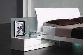 high gloss finish modern bedroom set aron white