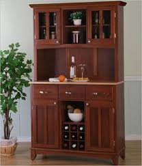 Bakers Rack With Doors Dark Oak Wood Finish Bakers Rack Server With Wine Storage Hutch