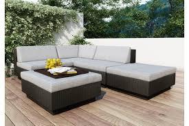 Three Piece Patio Furniture Set - sonax park terrace textured black 5 piece sectional patio set by