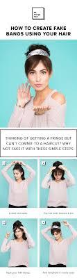 Frisuren Selber Machen You by Die Besten 25 Gefälschter Pony Ideen Auf Künstlicher