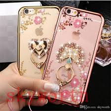 modern crystal ring holder images Bling diamond ring holder case crystal tpu for iphone 8 x 7 plus jpg