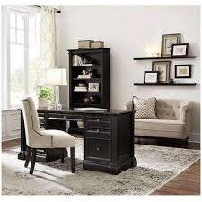Black Desk With Hutch Desks Home Office Furniture The Home Depot