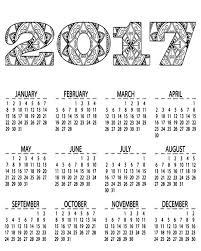 free printable 2017 calendar coloring page free printables