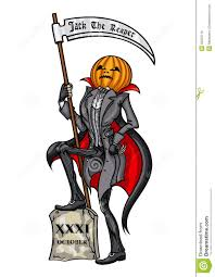 halloween pumpkin head jack the reaper royalty free stock images