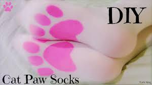 diy cat paw tights socks youtube