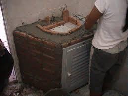 Cement Bathroom Sink - sample thai bathroom construction