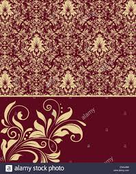 Wallpaper Invitation Card Vintage Invitation Card With Ornate Elegant Abstract Floral Design