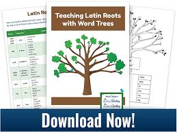 teach latin roots with word trees free download and video
