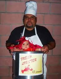 Lobster Costume Picture Of Halloween Chef Costume Idea And Lobster Costume For Baby
