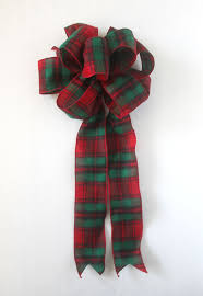and green plaid bows for wreaths bows