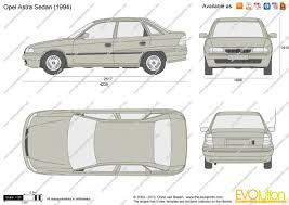 opel vectra 1994 the blueprints com vector drawing opel astra f sedan
