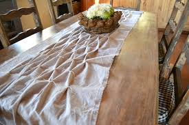 smocked table runner country design style