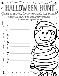 halloween math worksheets for kindergarten photocito