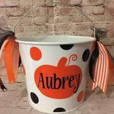 halloween bucket personalized halloween sand pail by deladesign