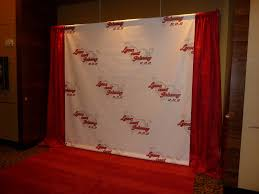 Wedding Backdrop Banner Wedding Custom Backdrop With Red Drapes And Red Carpet For U2026 Flickr
