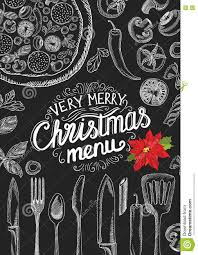 christmas party invitation restaurant food menu stock vector