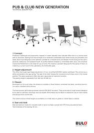 Standard Seat Height Pub U0026 Club Bulo Pdf Catalogues Documentation Brochures
