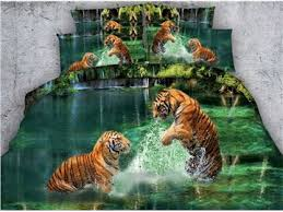 Tiger Comforter Set White Tiger Bedding Beddinginn Com