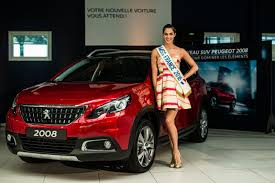 peugeot 2008 2017 lady in red peugeot 2008 delivered to miss france 2016