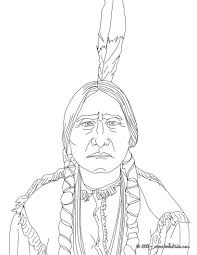 sitting bull coloring pages hellokids com