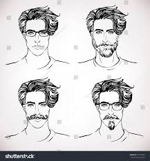 hipster style trendy fashion men sketch stock vector 227775853