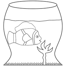 fish bowl coloring pages free printable goldfish coloring pages