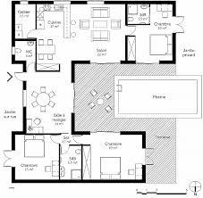 plan maison plain pied 3 chambres en l plan maison plain pied 1 chambre unique élégant plan maison plain