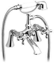 vado victoriana pillar mounted bath shower mixer tap chrome vic vado victoriana bath shower mixer tap with kit and short legs