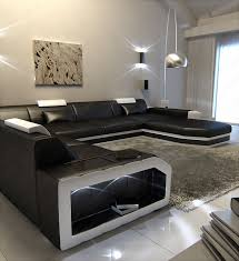 Big Sectional Couch Big Sectional Leather Sofa Prato Xxl With Led Lights Remote
