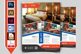 10 hotel flyers bundle 90 off flyer templates creative market