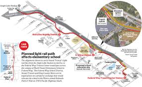 Link Light Rail Map Land Swap Could Save Federal Way Students From Light Rail