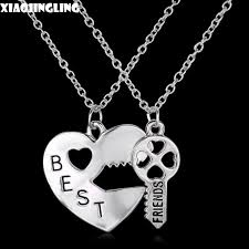 heart key pendant necklace images Xiaojingling 2017 new arrival necklaces fashion jewelry double jpg
