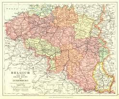 map belguim belgium luxembourg 1920 vintage map edward stanford