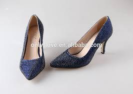 wedding shoes navy bs875 custom handmade pointed toe navy blue rhinestones wedding