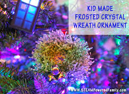 kid made wreath ornaments