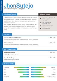 Free One Page Resume Template 1 Page Resume Format Free Download Eliolera Com