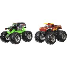 toy monster trucks racing wheels monster jam demolition doubles 2 pack styles may vary