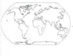 blank seven continents map with coloring page diaet me