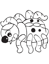 cute spider coloring u0026 coloring pages