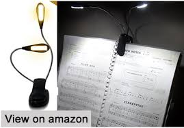 music stand light reviews eye care warm book music stand light with rechargeable clip on