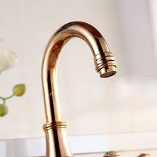 rose gold three hole vintage bathroom sink faucets