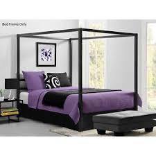 4 Poster Bed Frames Four 4 Poster Bed Frame Canopy Bedroom Furniture Metal